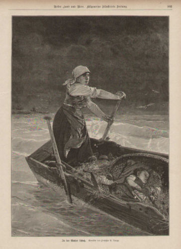 mother child at sea