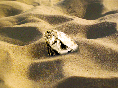 diamond in sand