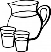 pitcher glass drawing