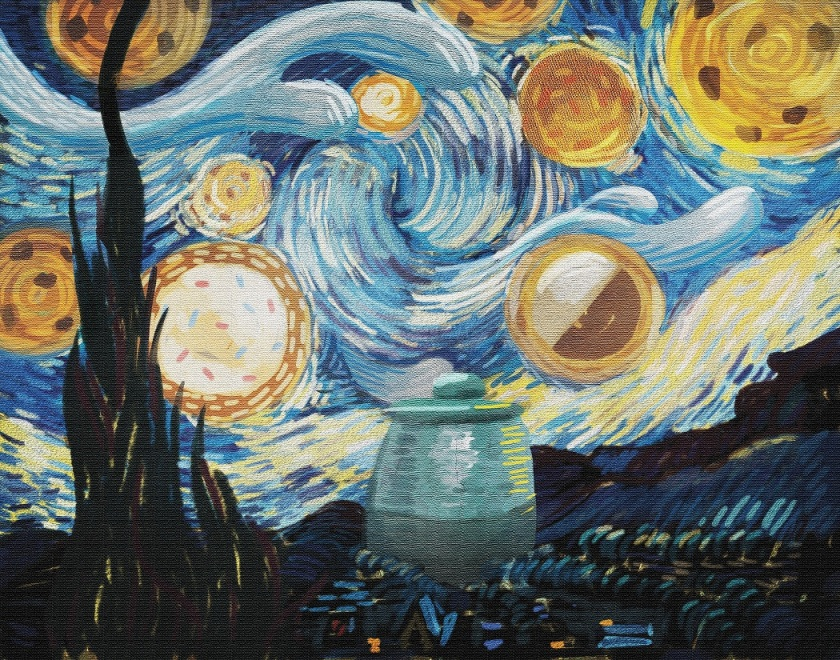 cookie starry night