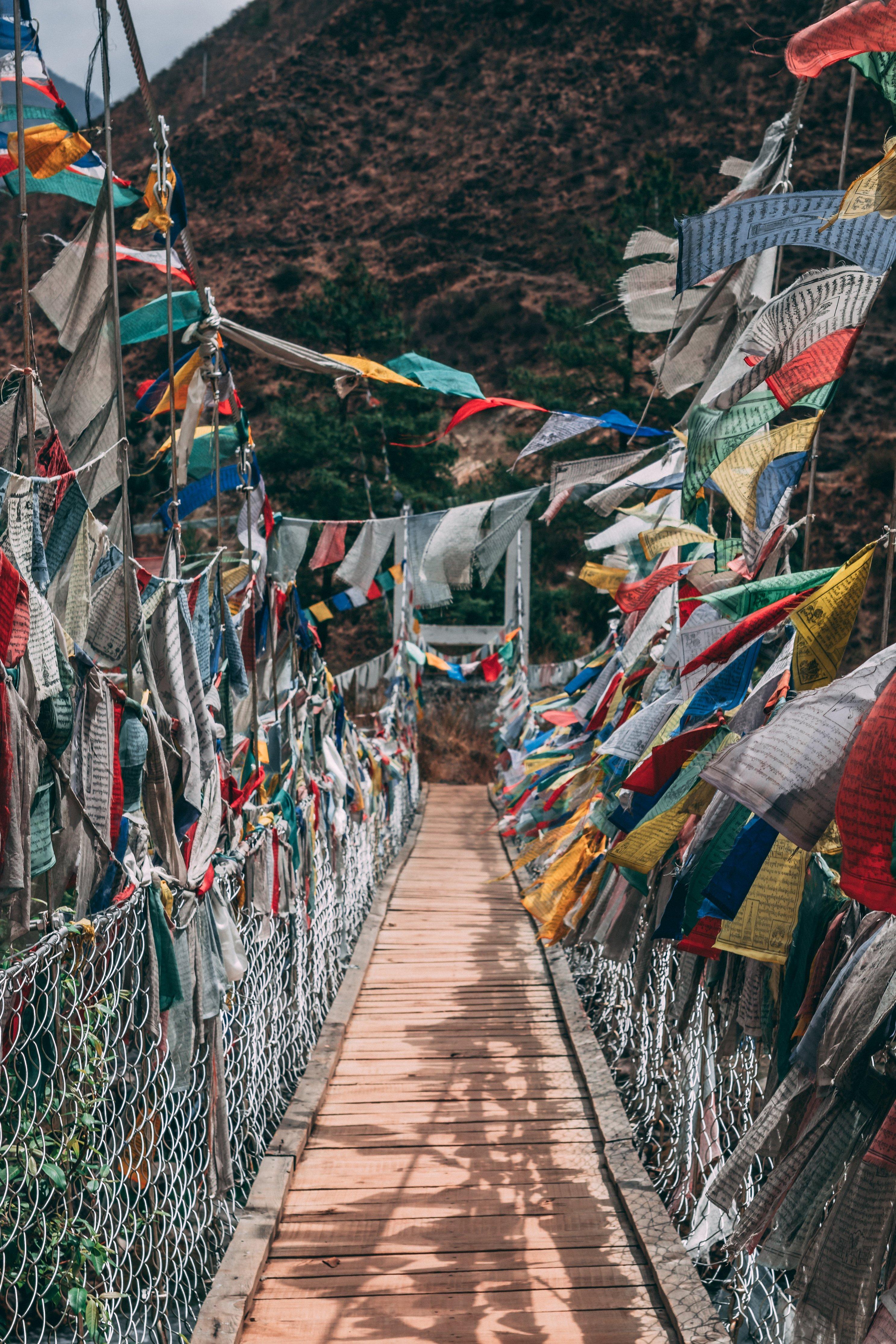 Prayer Flag Suspension Bridge
